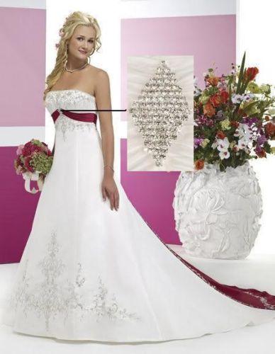 Dámské svatební šaty ELIS. Krásné bílo červené 615fc51d39