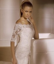 Dámské svatební šaty s rukávky