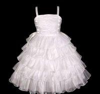 Krásné bílé volánové šaty pro družičky