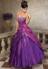 Dámské plesové šaty s vyšíváním
