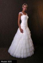 Dámské svatební šaty s volány MICHELLE - VÝPRODEJ