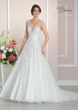 ALESANDRA luxusní svatební šaty k zapůjčení vel S-M
