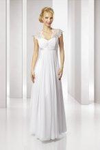 SLL435 Splývavé svatební šaty i pro těhulky skladem L-XL