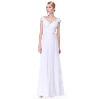 08633 Krásné splývavé svatební společenské šaty