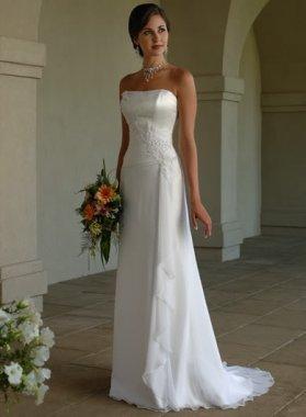 Dámské svatební šaty splývavé