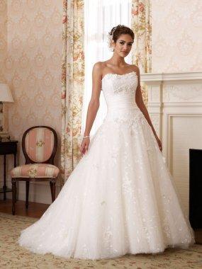 Dámské svatební šaty krajkové