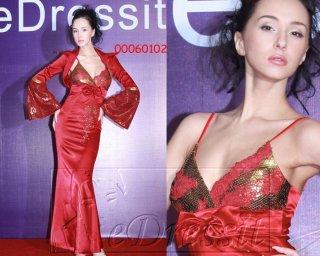 Dámské luxusní šaty saténové