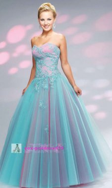 Dámské plesové šaty dvojbarevné