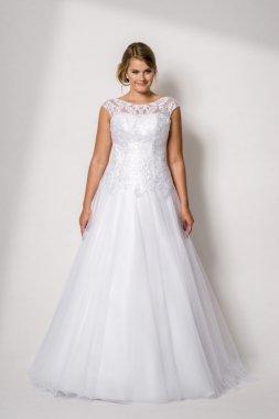 1701 Krásné svatební šaty s krajkou TINA