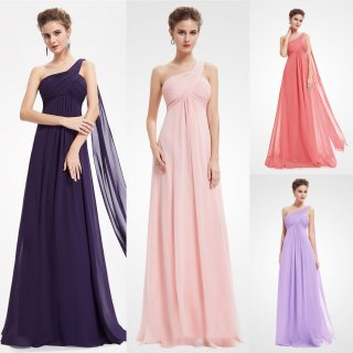 09816 Krásné splývavé společenské šaty na jedno rameno